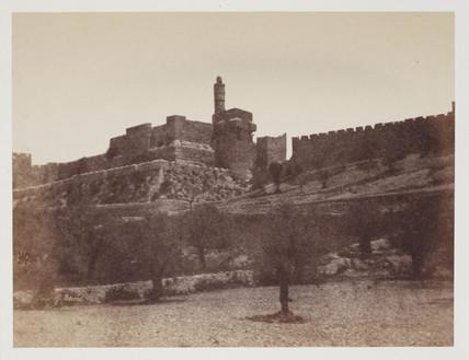 'The Walls and Davids Tower', Jerusalem, c 1849.