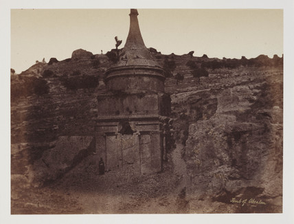 'Absolom's tomb in the Valley of Jehosophat', Jerusalem, c 1849.