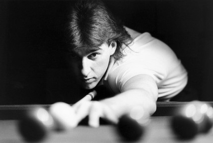 Kirk Stevens, Canadian snooker player, September 1985.