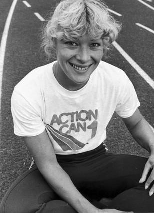 Shirley Strong, British athlete, May 1984.