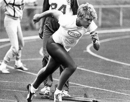 Shirley Strong, British athlete, May 1986.