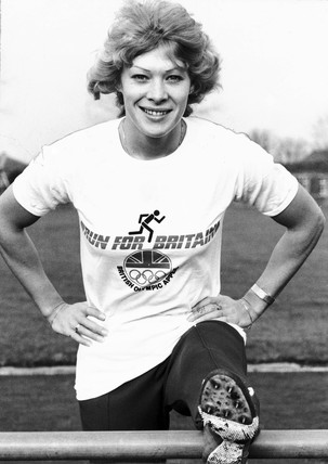 Shirley Strong, British athlete, February 1983.