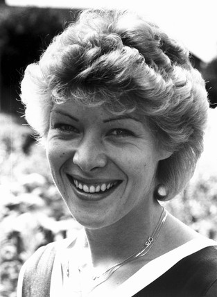 Shirley Strong, British athlete, August 1983.
