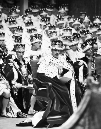 The coronation of King George VI, Westminster Abbey, London, 1937.