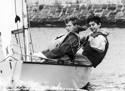 Peter Phillips sailing with Chri Kameen, October 1988.