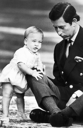 Prince Charles and Prince William, New Zealand, November 1983.