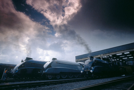Nigel Gresley's three cylinder locomotives.