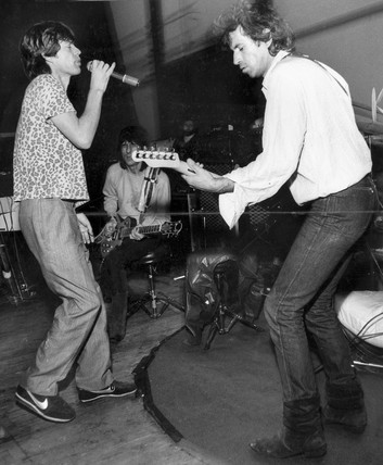Mick Jagger and Keith Richards, May 1982.