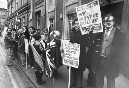 National Front demonstration, Stockport, January 1979.