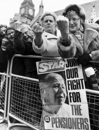 OAPs' lobby, London, March 1981.
