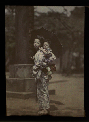 Woman and child, Japan.