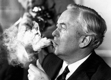 Harold Wilson, Adelphi Hotel, Liverpool, March 1974.