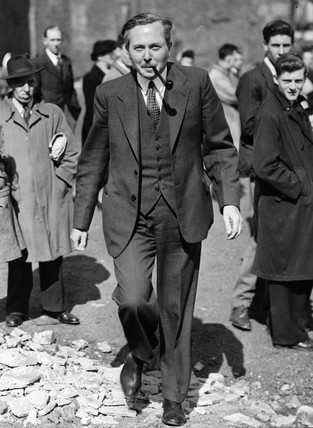 Harold Wilson at the Liverpool Labour May Day, May 1949.