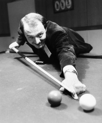 GLC leader Ken Livingstone playing snooker, September 1983.