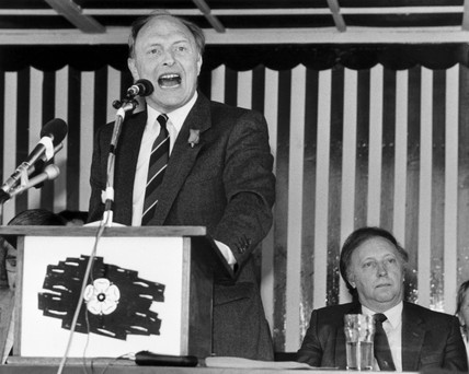 Neil Kinnock and Arthur Scargill, June 1987.