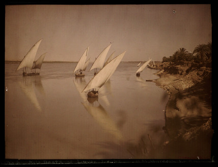 'Nile Boats at Luxor, Egypt'.