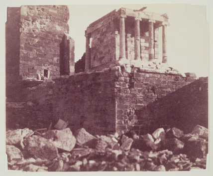 'The Temple of Victory, Athens', c 1850.
