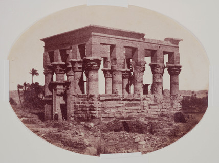 Hypatial Temple on the Nile, c 1850.