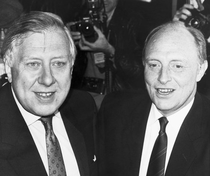 Roy Hattersley and Neil Kinnock, 1980s.