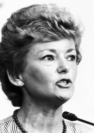 Glenys Kinnock, 1980s.