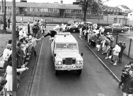 Neil Kinnock on the campaign trail, 1980s.