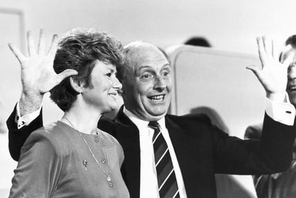 Neil and Glenys Kinnock, 1980s.