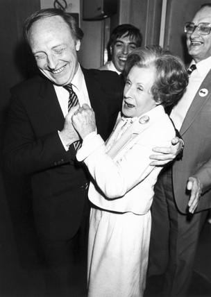 Neil Kinnock and Barbara Castle, 1980s.