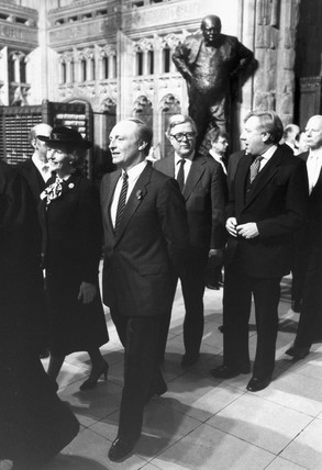 Margaret Thatcher, Neil Kinnock, Geoffrey Howe and Roy Hattersley,