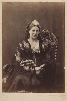 Portrait photograph of a woman, c 1860.