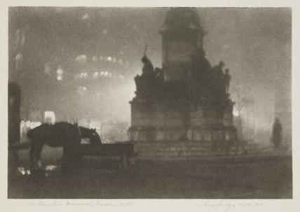 'The Gladstone Memorial, London - Night', 1925.