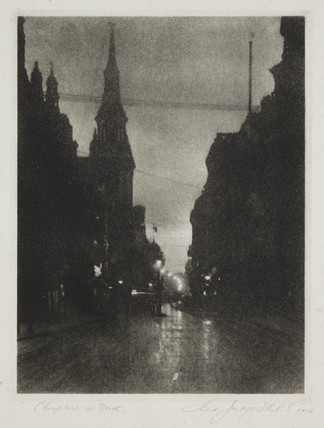 'Cheapside at Dark', 1914.