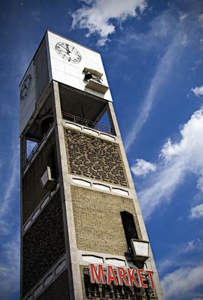 Clock tower, Shipley Market, West Yorkshire, 2005.