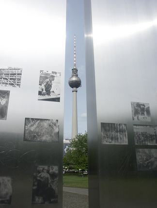 Berlin TV Tower and art installation, Germany, 2004
