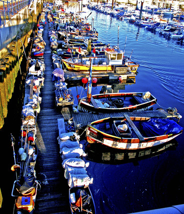 Fishing boats, Brighton Marina, East Sussex, 2004.