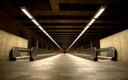 Walkway, Lisbon Metro, Portugal, 2005.