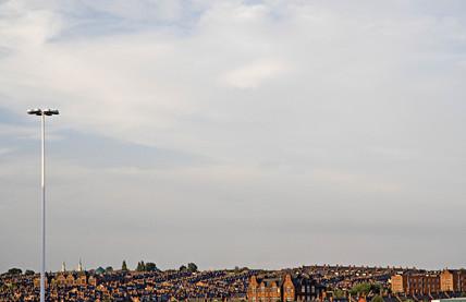 View over Harehills, Leeds, 2005.