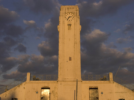Clock tower and toilets, Seaton Carew, Durham, 2005.