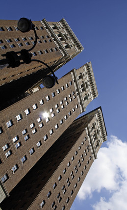 Three skyscrapers, New York City, USA, 2005.