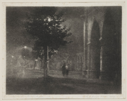 'By the Law Courts, - Night', 1923.
