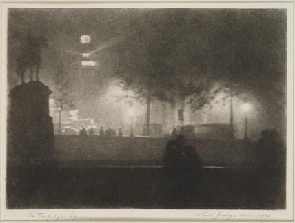 'In Trafalgar Square', 1923.