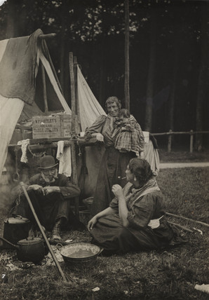 'Gypsies and tent', late 19th-early 20th century.