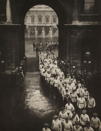 'Looking Backward', London, early 20th century.
