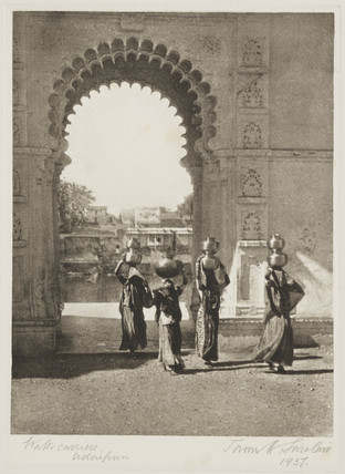 Water carriers, Udaipur, Rajasthan, India, 1937.