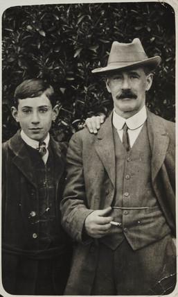 Portrait of William and Claude Friese-Greene, c 1908.
