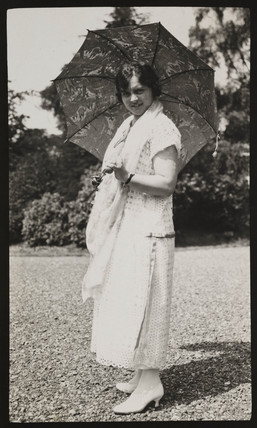 Portrait of Chrissie, wife of Claude Friese-Greene, c 1925.