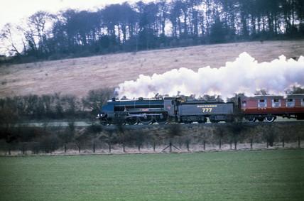 Southern Railways steam locomotive no 777, c 1980s.