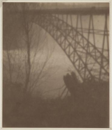 'An American Impression: The Bridge Below Niagara', early 20th century.