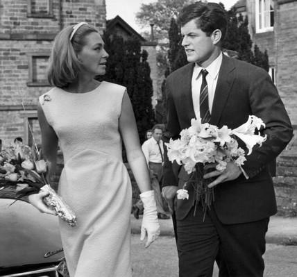 Edward and Joan Kennedy visit Chatsworth House, May 1965.