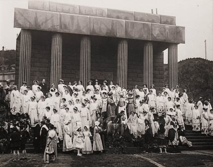 'A Scene at the Pageant Ground...', early 20th century.