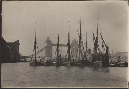 The Thames and Tower Bridge, c 1894.